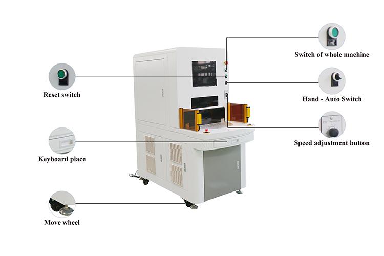 four station laser marking machine