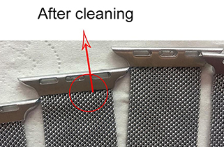 Laser cleaning welding spot and oxide layer