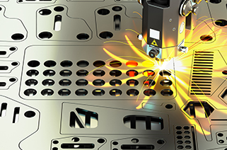 Causes of burst holes when laser cutter that cuts metal punches