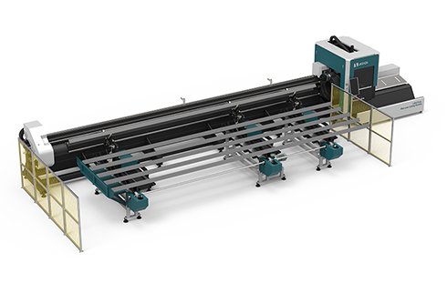 [LX83THA] New design cnc laser pipe cutting machine LX83THA Automatic loading and unloading laser tube cutter for sale